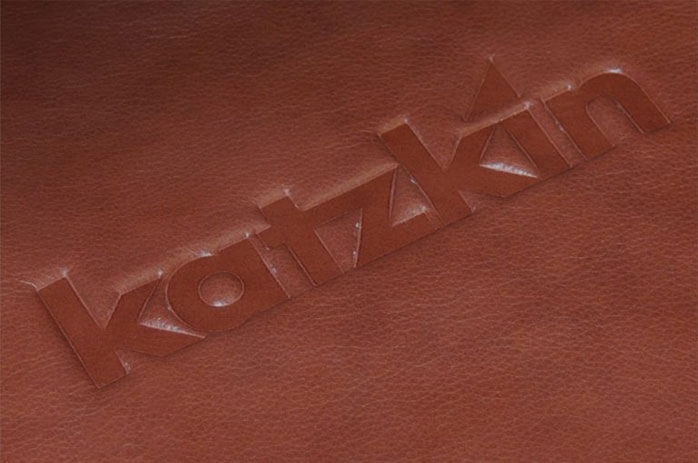 Katzkin Embossing on Red Leather Seat