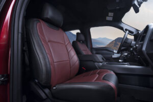Katzkin Ford F-150 Red Leather Seat Low Angle