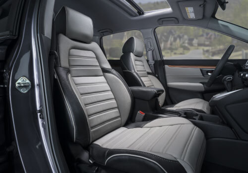 Katzkin Honda CRV Black Grey Leather Seats