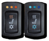 Seat heating and cooling switches