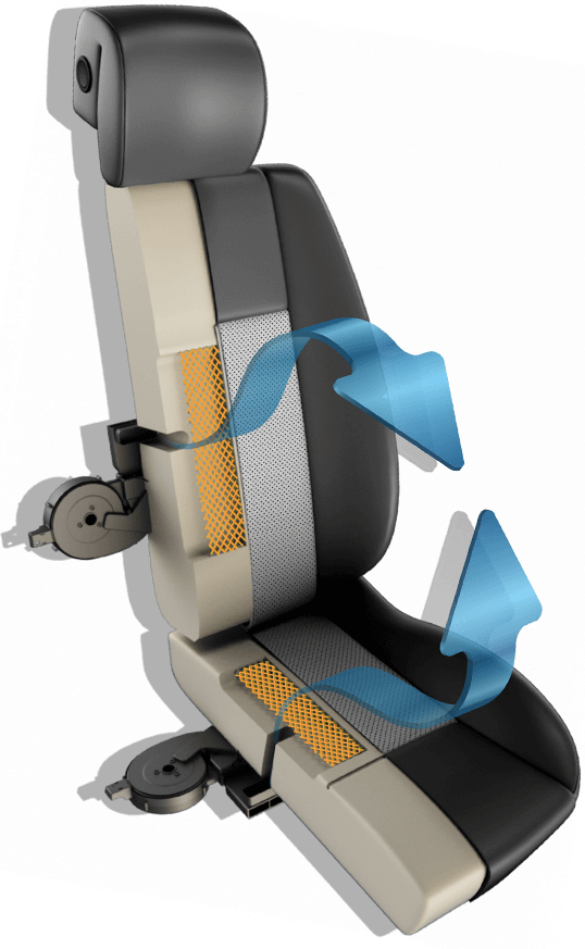 DEGREEZ seat heating & cooling graphic