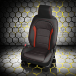 Chevy Camaro Black Leather Seat with Red Accents