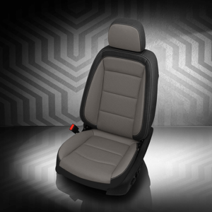 Chevrolet Equinox Gray and Black Leather Seat