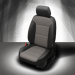 Chevy Traverse Grey and Black Leather Seat