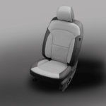 Ford Explorer Grey Leather Seat with Accents