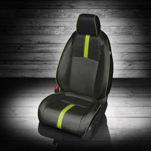 Honda Civic Black Yellow Seat with Yellow Accents