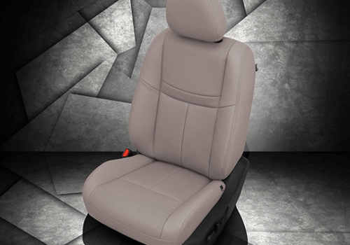 Nissan Rogue Light Gray Leather Seat