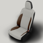 Toyota Highlander White and Brown Leather Seat