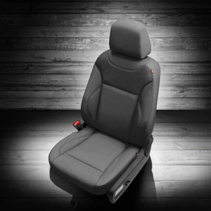 Dodge Charger Dark Grey Leather Seat