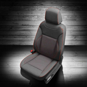 Dodge Charger Grey Leather Seat with Red Accents