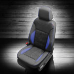 Dodge Charger Gray Leather Seat with Blue Accents