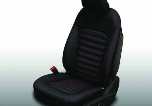 Ford Fusion Black Leather Seat