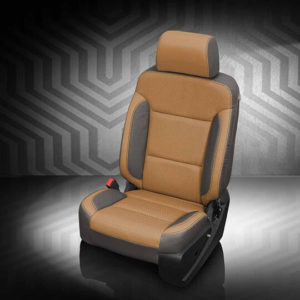 GMC Sierra Tan and Grey Leather Seat