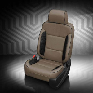 GMC Sierra Brown and Black Leather Seat
