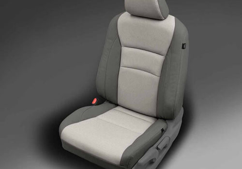 Honda Pilot Grey Two-Tone Leather Seat