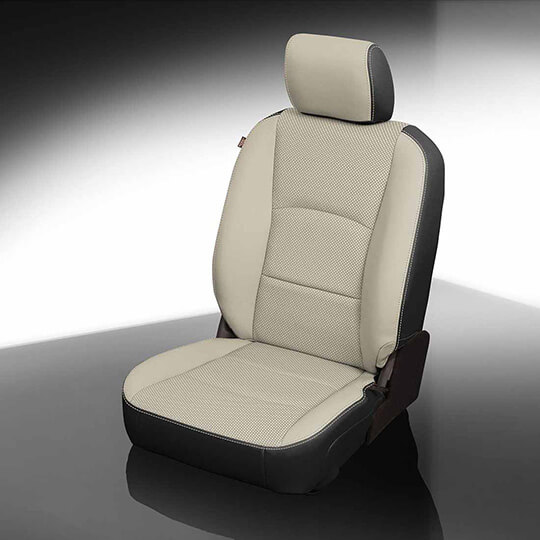 Ram 2500 Light and Black Leather Seat