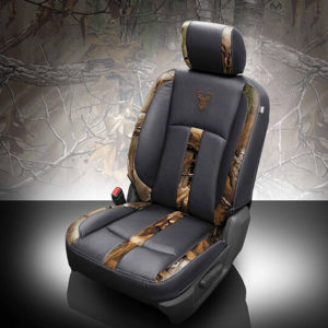Ram 2500 Black and Camo Leather Seat