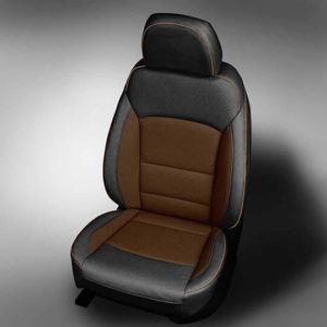 Chevy Cruze black & brown leather seats