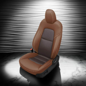 Tesla Model 3 Brown And Black Leather Seat