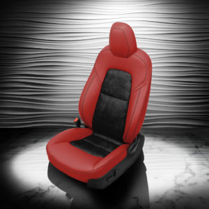 Tesla Model 3 Red And Black Leather Seat