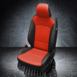 Kia Soul Red and Black Leather Seats