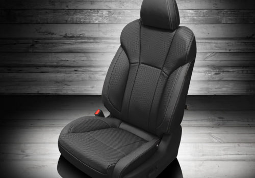 Black Subaru Ascent Leather Seat Covers
