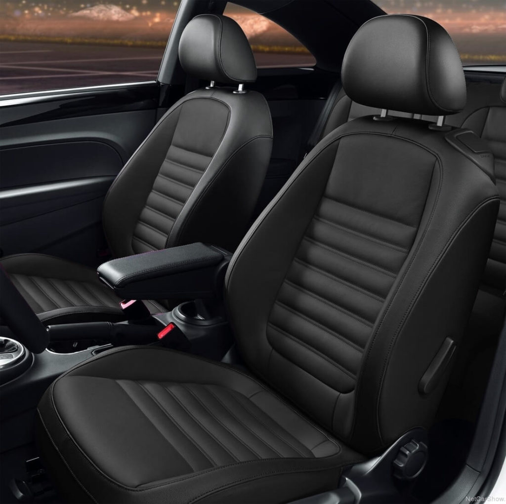 VW Beetle Black Leather Seat Covers