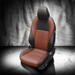 Mazda 3 Brown and Black Leather Seats