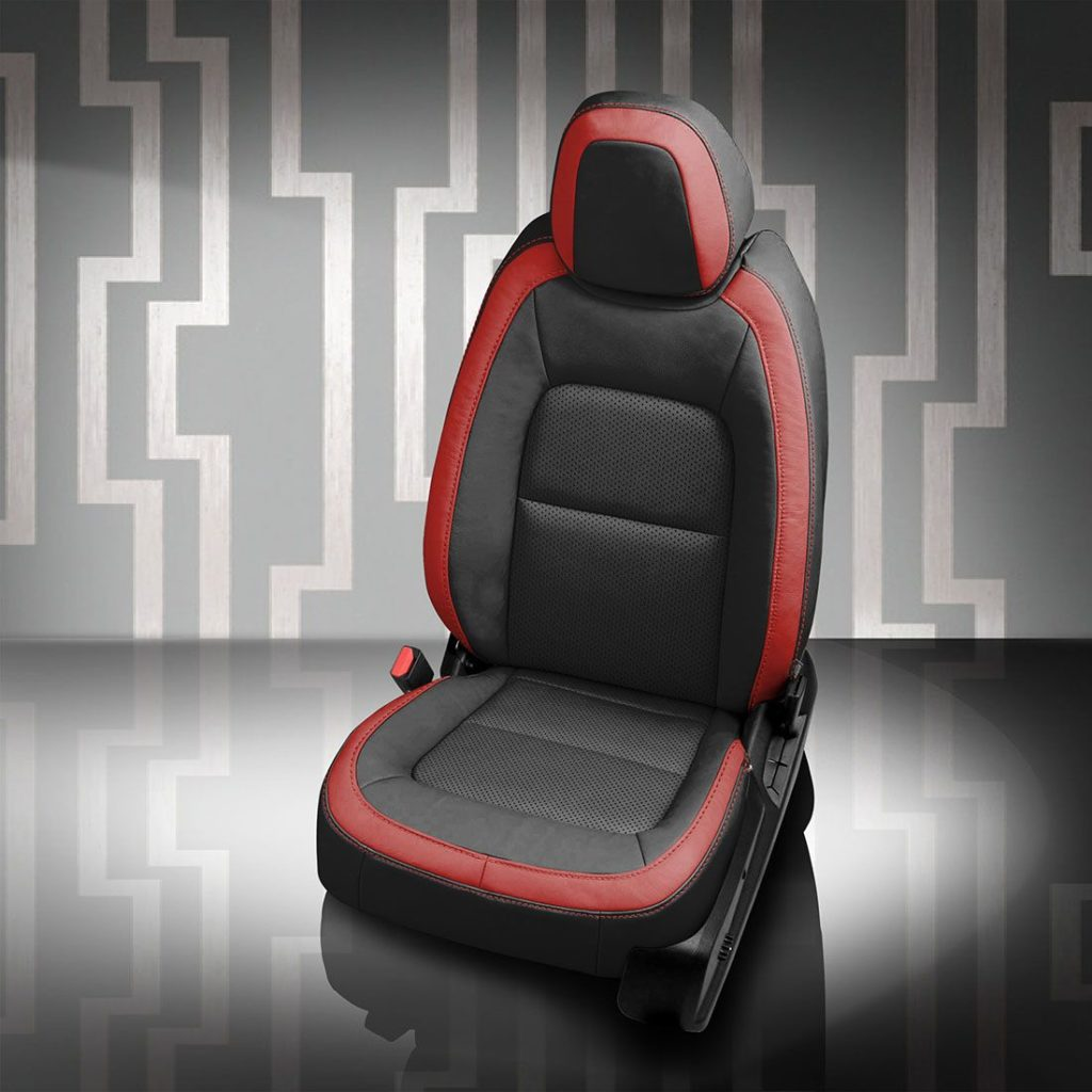 Orlando Auto Upholstery Red and Black Seats