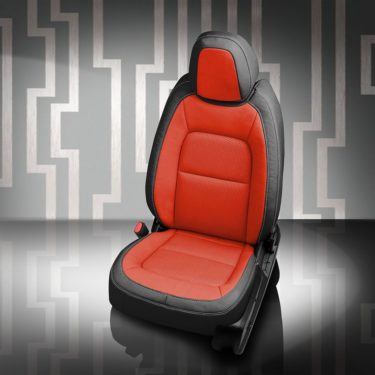 Chevy Colorado Red and Black Leather Seats