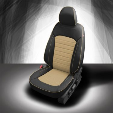 Ford Edge Black and Tan Leather Seats