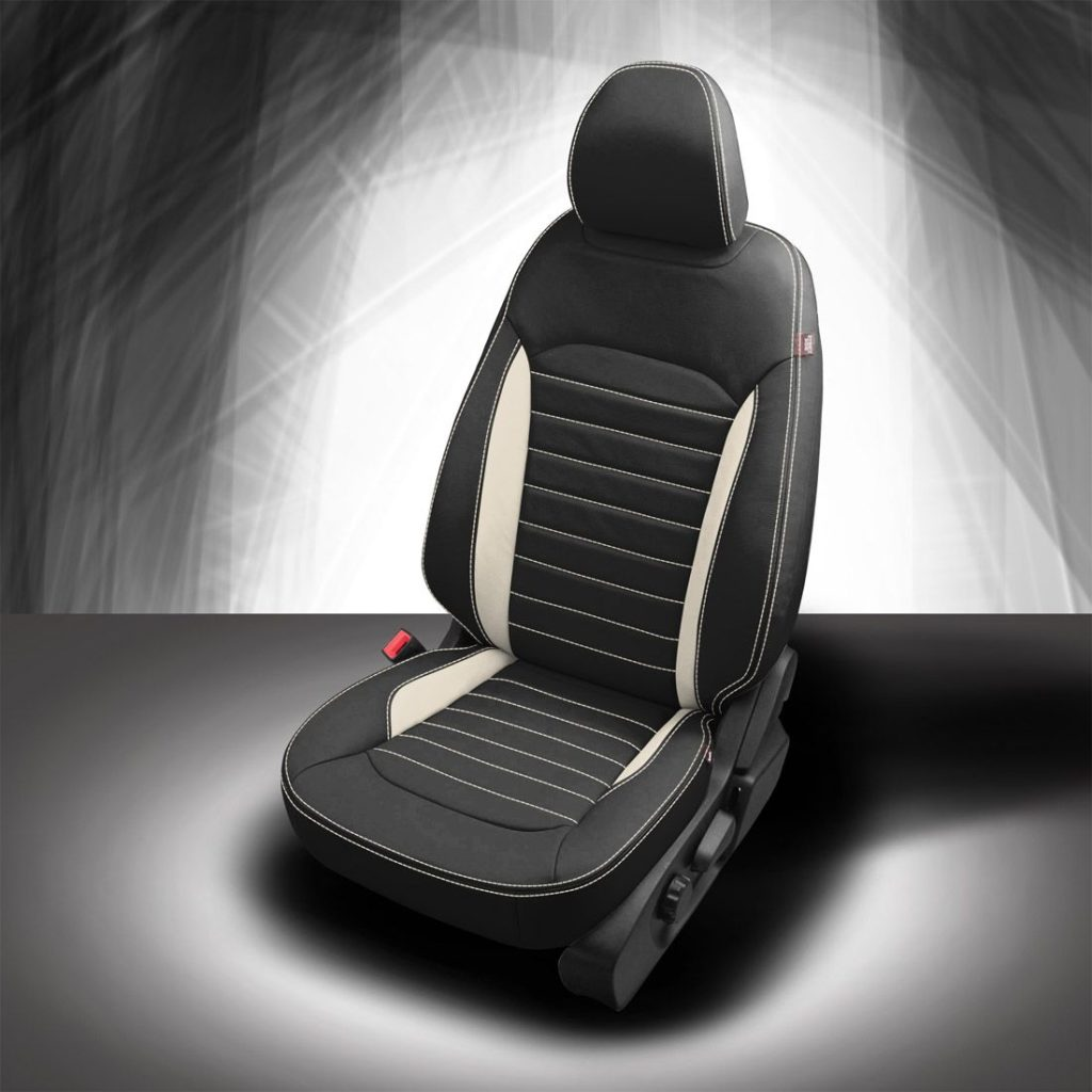 Ford Edge Black and White Leather Seats