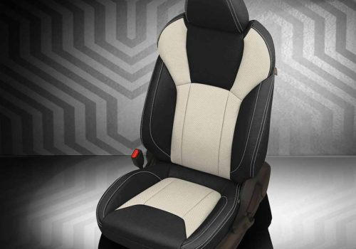 Subaru Impreza Black and White Leather Seats