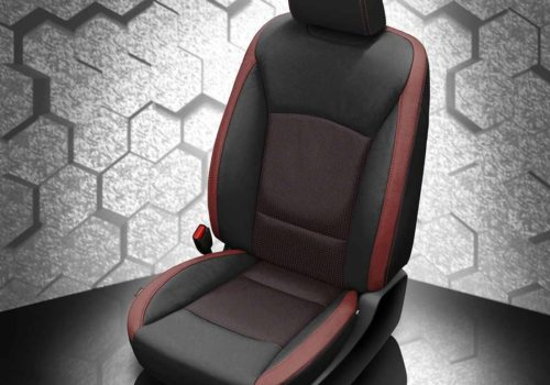 Subaru Legacy Red and Black Leather Seats