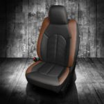 Brown and Black Chrysler Pacifica Leather Seats
