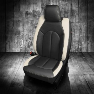 Black and White Chrysler Pacifica Leather Seats