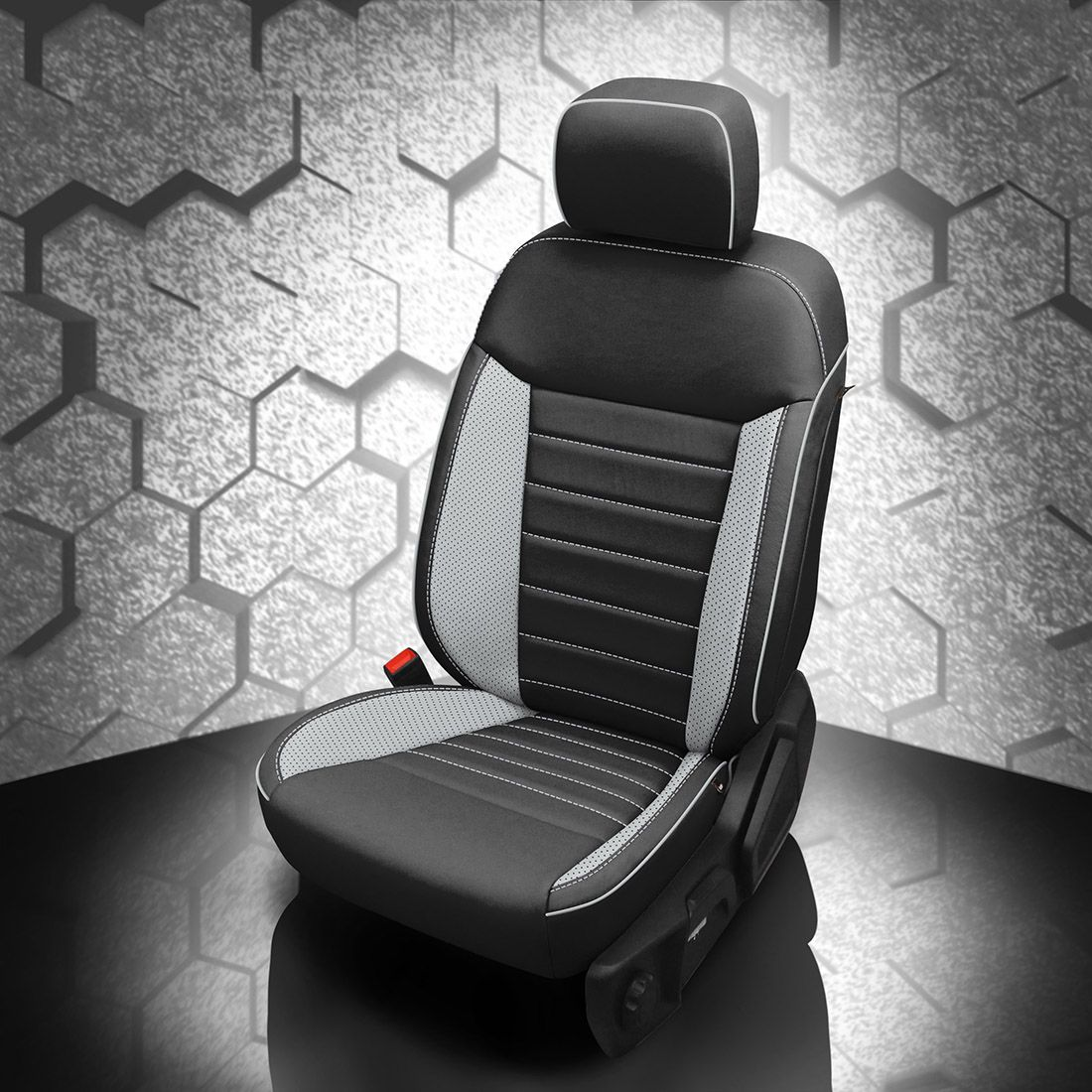 Ford Ranger Black and Gray Leather Seats