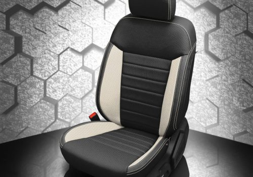 Ranger Black and White Leather Seats