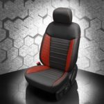 Ford Ranger Black and Red Leather Seats