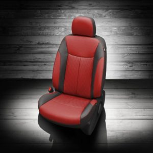 Nissan Sentra Red and Black Leather Seats