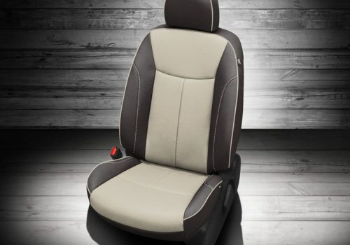 Nissan Sentra Black and White Leather Seats