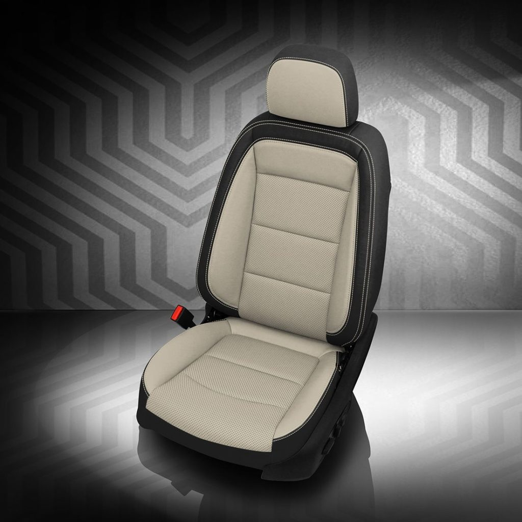 GMC Terrain Black and White Leather Seats