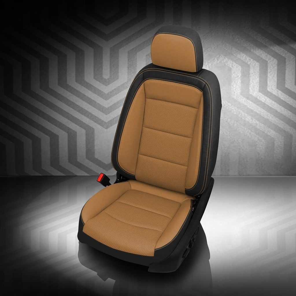 GMC Terrain Brown and Black Leather Seats