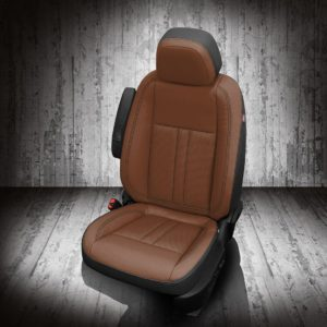 Chevy Trax Brown and Black Leather Seats