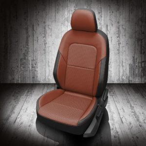 VW Jetta Brown and Black Leather Seats