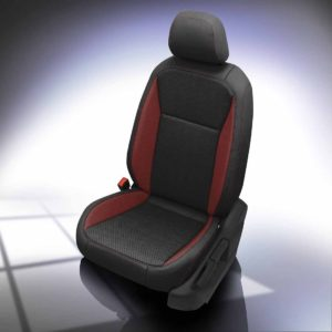 VW Tiguan Black and Red Leather Seats