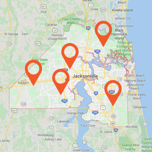 Auto Upholstery Jacksonville Map