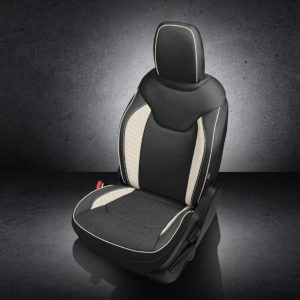 Jeep Renegade Black and White Leather Seats