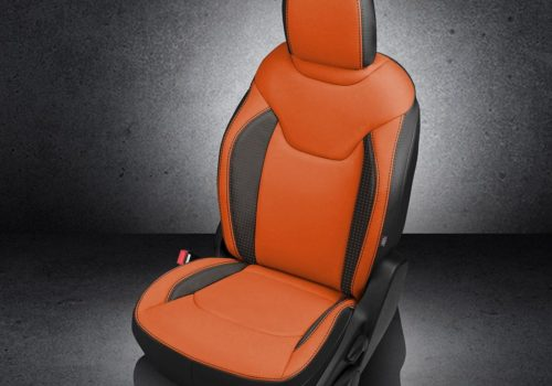 Jeep Renegade Orange Leather Seats