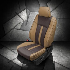 Two-Tone Brown Seat Covers